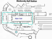 Moskovsky Sapsan Train Station Scheme
